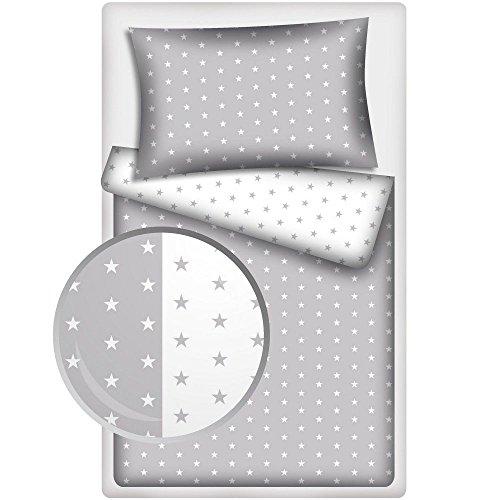 amilian 2 tlg bettw sche baby bettset sternchen wei. Black Bedroom Furniture Sets. Home Design Ideas