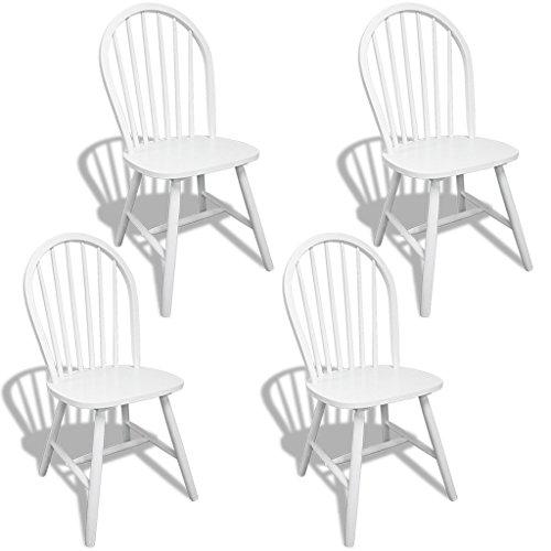 4x holz esszimmerstuhl k chenstuhl rund wei m bel24 shop xxxl. Black Bedroom Furniture Sets. Home Design Ideas