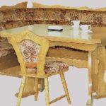8-8-7-9-2314: Kücheneckbank, Eckbank - Eiche natur lackiert - Küchenbank - Stoff Velours