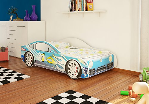 autobett junior in vier farben mit lattenrost und matratze. Black Bedroom Furniture Sets. Home Design Ideas