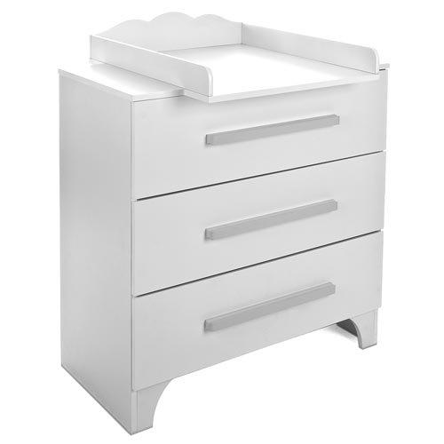 BCT01 Wickelkommode 80,5 x 94 x 60 cm Weiß