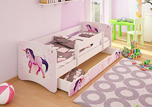 best for kids kinderbett 80x160 mit rausfallschutz schublade 44 designs unicorn m bel24. Black Bedroom Furniture Sets. Home Design Ideas