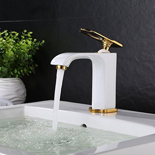 bonade waschtischarmatur wei einhebelmischer waschbecken wasserhahn badezimmer armatur bad. Black Bedroom Furniture Sets. Home Design Ideas