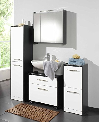 badezimmer elegance 4 tlg badm bel set lackfront wei m bel24. Black Bedroom Furniture Sets. Home Design Ideas