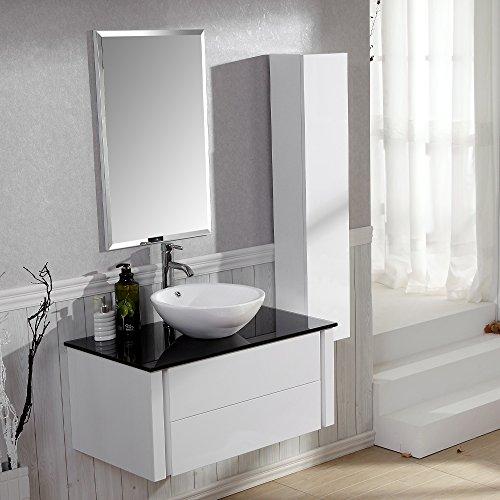 badezimmer komplett set badm bel inkl waschbecken armatur waschbeckenunterschrank. Black Bedroom Furniture Sets. Home Design Ideas