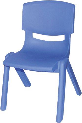 Bieco 04000003 - Kinderstuhl aus Kunststoff, stapelbar, ca. 53 x 33 x 28 cm blau