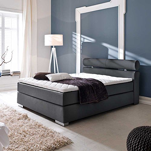 boxspring bett f r jugendzimmer schwarz breite 162 cm liegefl che 160 200 pharao24 m bel24. Black Bedroom Furniture Sets. Home Design Ideas