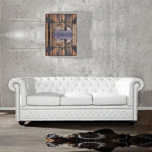 cag edles 3er sofa winchester weiss aus kunstleder im klassisch englischen chesterfield stil 0. Black Bedroom Furniture Sets. Home Design Ideas