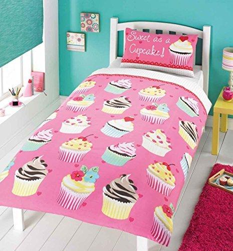 Cupcake Polka Dot Pink Baumwolle-Mischgewebe Bettdecke Tröster Bezug, Single