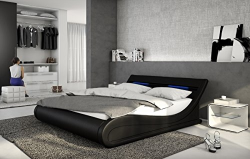 designer leder bett bellini bellugia 140x200 oder 180x200. Black Bedroom Furniture Sets. Home Design Ideas