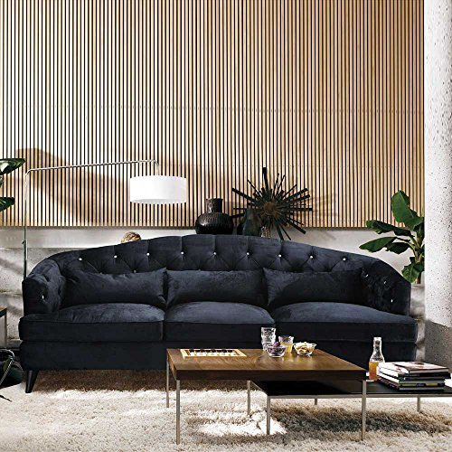 Designer Sofa im Retro Design Anthrazit Pharao24