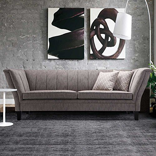 Designer Sofa in Grau Retro Design Pharao24