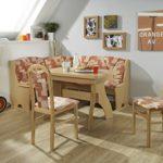 Dreams4Home Eckbankgruppe 'Reva' Essgruppe 170 x 130 x 89 cm Tisch 2 Stühle modern Buche terracotta Eckbank Küchentisch 4-teilig Landhaus Küche