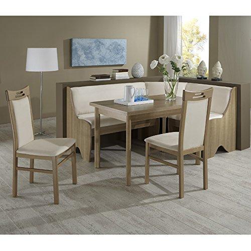Eckbank Eckbankgruppe Essgruppe BAROLO Essecke Tisch 2 Stühle Noce Dekor