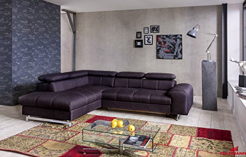 ecksofa 60573 polsterecke grau mit schlaffunktion und bettkasten ausrichtung w hlbar. Black Bedroom Furniture Sets. Home Design Ideas