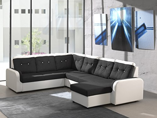ecksofa bond3 mit bettfunktion schlaffunktion wohnlandschaft couch u form 01628 ottomane. Black Bedroom Furniture Sets. Home Design Ideas