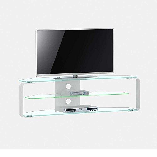 Fernsehtisch aus glas mit led beleuchtung breite 144 cm for Moebel24 shop