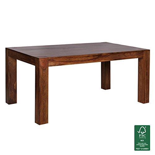 Finebuy esstisch massivholz sheesham 160 240 cm ausziehbar for Esszimmertisch echtholz