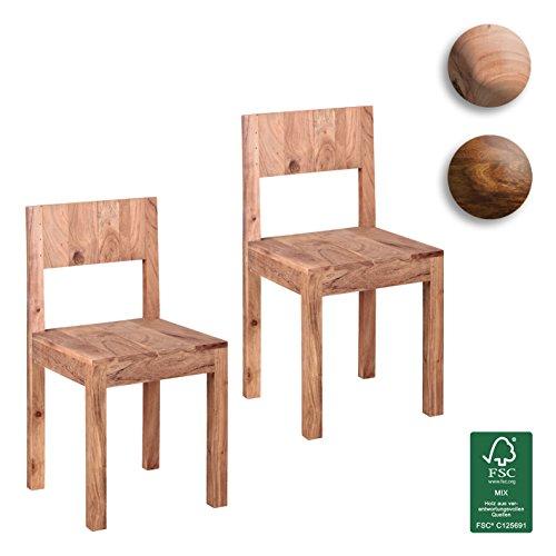 finebuy esszimmerst hle 2er set massiv holz akazie design. Black Bedroom Furniture Sets. Home Design Ideas