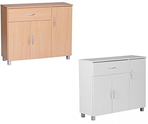Finebuy Sideboard Jerry Buche Mit 1 Schublade 3 Türen 90 X 75 X 30