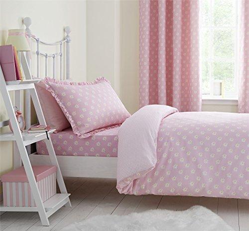 g nsebl mchen motiv f r kinder einzelbett aus baumwolle kariert vichy rosa weiss wendbar. Black Bedroom Furniture Sets. Home Design Ideas