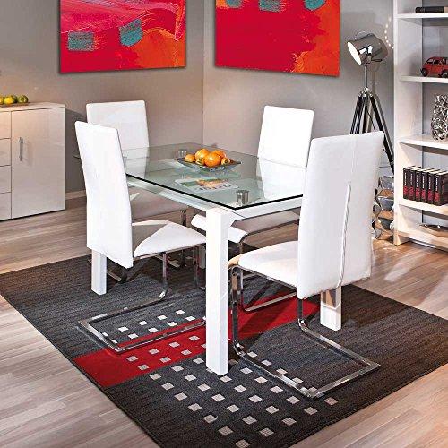 Glastisch Brosia mit Stühlen (5-teilig) Pharao24