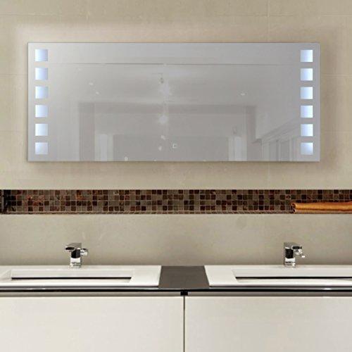 high end wandspiegel mit led beleuchtung touch sensor 120x50cm 0 m bel24 shop xxxl. Black Bedroom Furniture Sets. Home Design Ideas