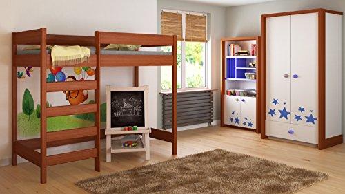hochbett jugendbett antresola inkl lattenrost 180x80cm palisander m bel24 shop xxxl. Black Bedroom Furniture Sets. Home Design Ideas