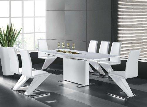 gavina esszimmertisch 150 210x90 ausziehtisch esstisch tisch massivholz hochglanz. Black Bedroom Furniture Sets. Home Design Ideas