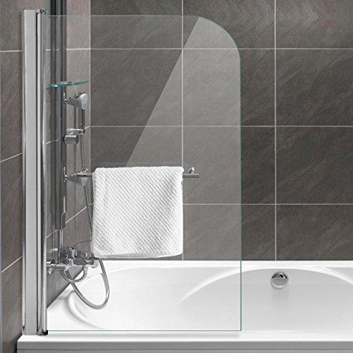 homelux badewannenaufsatz badewannenfaltwand faltduschwand b x h 80 x 130 cm sicherheitsglas 6. Black Bedroom Furniture Sets. Home Design Ideas