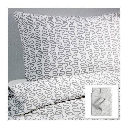 IKEA KRAKRIS Bettwäscheset 3tlg. (240cm x 220cm und 80cm x 80cm); Kopfkissen und Bettbezug