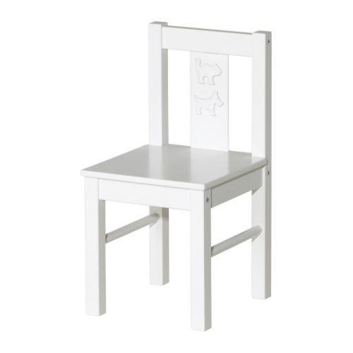 """IKEA Kinderstuhl """"Kritter"""" Stuhl aus Massivholz - WEISS"""