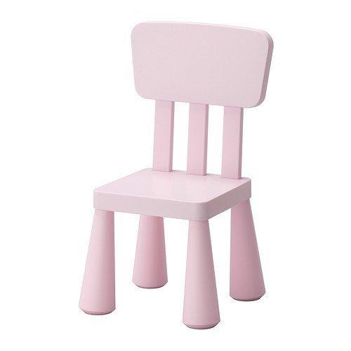 IKEA MAMMUT Kinderstuhl in hellrosa