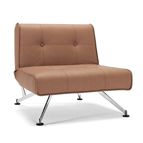 Innovation Clubber Sessel, braun Kunstleder Bezug Dess. 593 Nubucko Twist