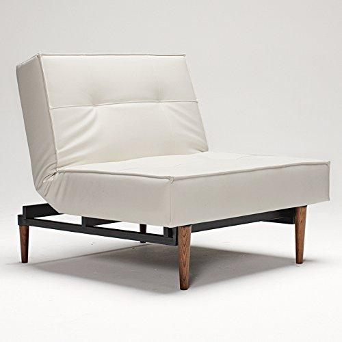 INNOVATION Sessel Splitback Styletto dunkel weiß