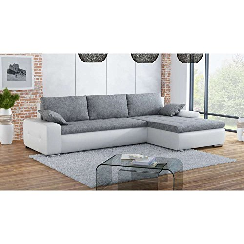 justhome conte mini ecksofa polsterecke schlafsofa ecoleder strukturstoff bxlxh 173x263x85 cm. Black Bedroom Furniture Sets. Home Design Ideas