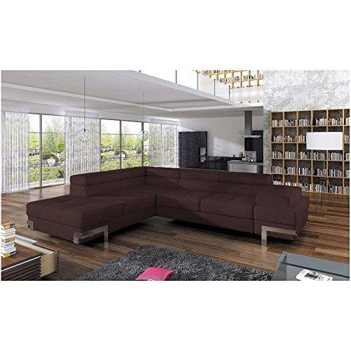 justhome emporio ecksofa eckcouch mit bettkasten schlafcouch ecoleder bxlxh 223x275x7090 cm. Black Bedroom Furniture Sets. Home Design Ideas