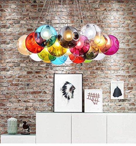 kjlars pendelleuchte moderne pendelampe kreativ minimalistische bunte glas h ngeleuchte 19. Black Bedroom Furniture Sets. Home Design Ideas
