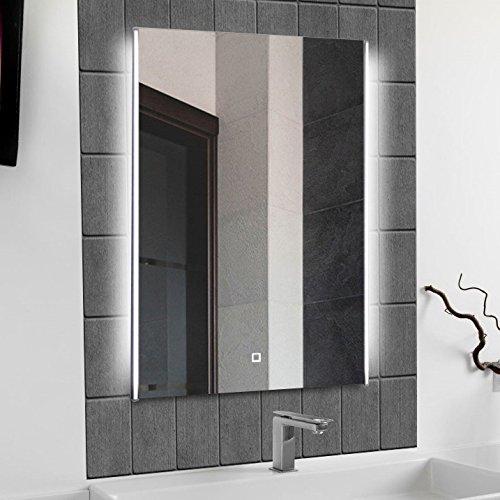 krollmann badspiegel mit licht 50 x 70 cm led badezimmer wandspiegel mit seitlicher beleuchtung. Black Bedroom Furniture Sets. Home Design Ideas