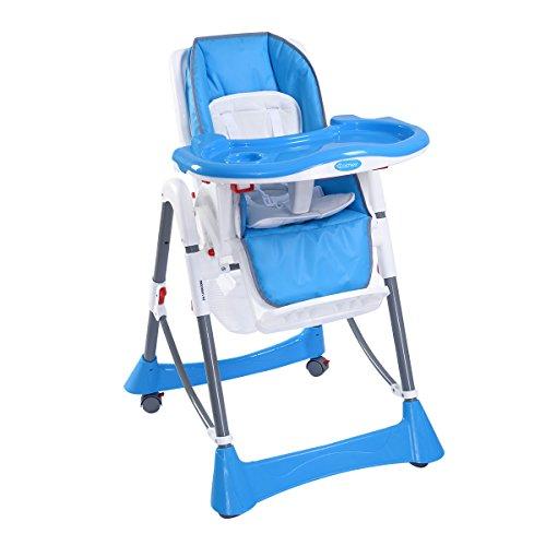 Kinderhochstuhl TreppenhochstuhlKombihochstuhl Hochstuhl Babyhochstuhl Baby Stuhl Kinderstuhl mit Sicherheitsgurt System Farbwahl (Blau)