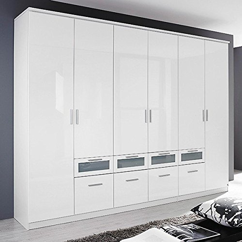kleiderschrank hochglanz wei 6 t ren b 271 cm schrank dreht renschrank w scheschrank. Black Bedroom Furniture Sets. Home Design Ideas