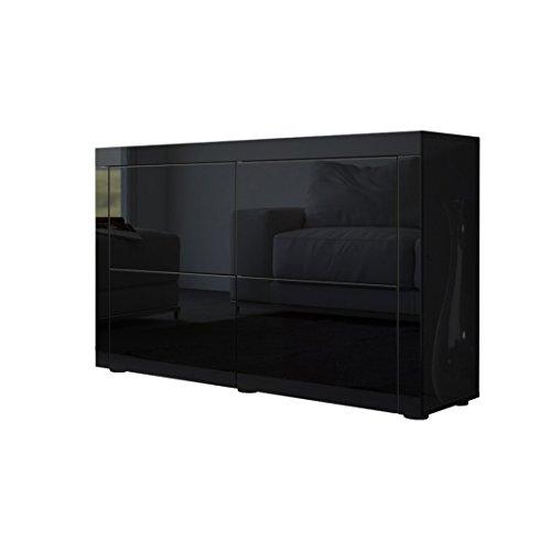 Kommode sideboard la paz v2 in schwarz hochglanz schwarz for Moebel24 shop