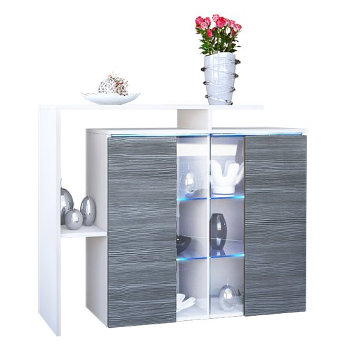 kommode sideboard lissabon korpus in wei matt front in avola anthrazit m bel24. Black Bedroom Furniture Sets. Home Design Ideas