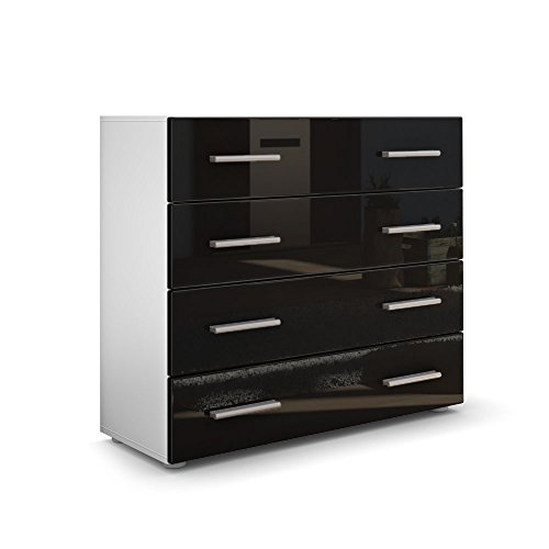 kommode sideboard pavos in wei matt schwarz hochglanz 0 m bel24. Black Bedroom Furniture Sets. Home Design Ideas