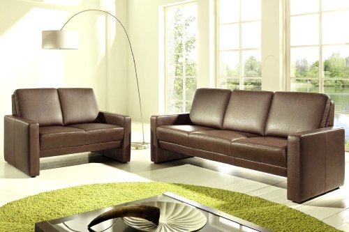 leder sofa garnitur couch 3 sitzer 2 sitzer turin v1 wohnlandschaft 2er 3er voll leder. Black Bedroom Furniture Sets. Home Design Ideas