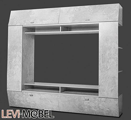 mediawand tv lowboard regal wohnzimmer wohnwand beton optik matt neu 643638 m bel24 shop xxxl. Black Bedroom Furniture Sets. Home Design Ideas