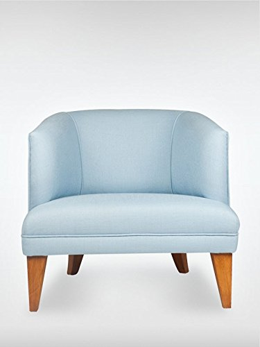 Modern Retro Design Sessel Ohrensessel MADISON 73 x 77 x 72 cm Loungesessel blau