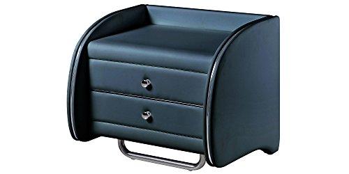 Nachttisch Schwarz Modern Avellino mit Schublade Nachtkonsole Nachtschrank