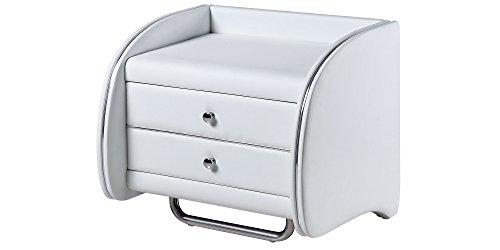 Nachttisch Weiß Modern Avellino mit Schublade Nachtkonsole Nachtschrank