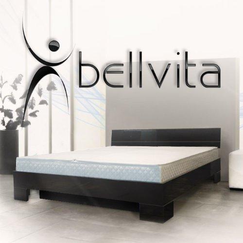 bellvita Wasserbett mit Hochglanz-Bettrahmen schwarz mit Aufbau, 200 cm x 220 cm